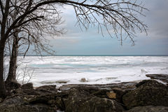 Winter Lake Erie Stock Photo