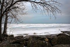 Winter Lake Erie Stock Photo