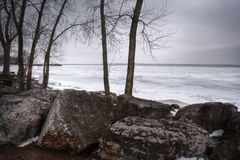 Winter Lake Erie Stock Photos