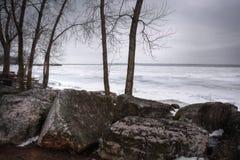 Winter Lake Erie Stock Photos