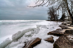Winter Lake Erie Royalty Free Stock Photos