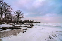 Winter Lake Erie Royalty Free Stock Images