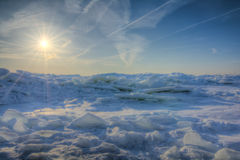 Winter Lake Erie Sunrise Royalty Free Stock Image