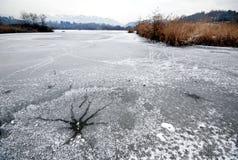 Winter lake Stock Photo