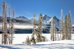 Winter Lake in Idaho covered with snow Royalty Free Stock Photography