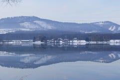 Winter lake royalty free stock images