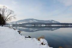Winter lake Stock Images