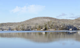 Winter Lake Landscape Stock Photography
