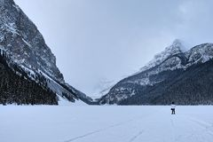 Winter Lake Louise royalty free stock photography