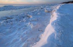 Winter, Lake Michigan. Winter shoreline of Lake Michigan, Saugatuck Dunes State Park, USA Royalty Free Stock Images