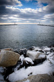 Winter Lake Michigan Royalty Free Stock Photo