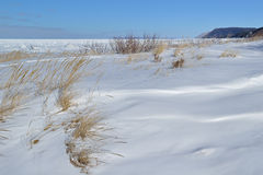 Winter, Lake Michigan Royalty Free Stock Photos