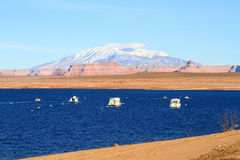 USA, Arizona: Lake Powell and Navajo Mountain Stock Photos