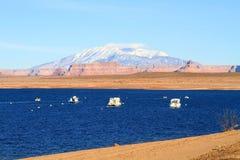 USA, Arizona: Lake Powell and Navajo Mountain stock photos