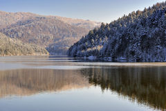 Winter lake scene Royalty Free Stock Photography