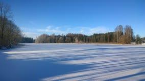 Winter lake Stock Image