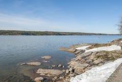 Winter lake in Sweden Stock Photos