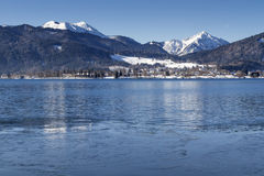 Winter at lake Tegernsee in Bavaria, Germany Stock Photos