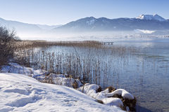 Winter at lake Tegernsee, Bavaria, Germany Royalty Free Stock Photography