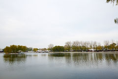 Winter lakescape, Beijing royalty free stock photography