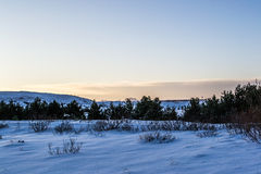 Winter land Iceland. Cold November morning in Iceland Stock Photo