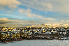 Winter land Iceland. Cold November morning in Iceland Royalty Free Stock Image