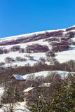 Winter landascape. A winter landscape in the Madonie Regional Natural Park in Sicily. It includes the Madonie mountain range and some of the highest mountains in Stock Photography