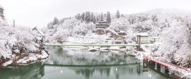 Winter Landcape lake Stock Image