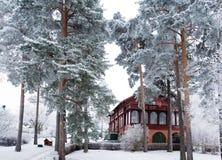 Winter-Landhaus Lizenzfreies Stockbild