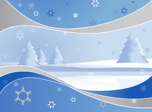 Winter landmark with abstract frame. Vector art Royalty Free Stock Photos