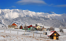 Winter landmark in Romania Stock Image