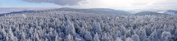Winter landsape. In Sowie Mountains, Poland Royalty Free Stock Images