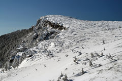 Winter landscape. Winter view from mountains in Romania Stock Photography