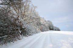 Winter-Landscape. Digital photo of a winter-landscape in germany Royalty Free Stock Image