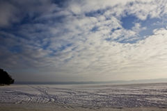 Winter landscape. With ice and snow Royalty Free Stock Photography