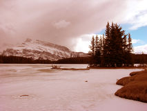 Winter landscape. Rocky Mountains in winter, Canada Stock Photography
