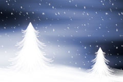 Winter landscape. With christmas trees and snow Royalty Free Stock Photos