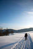 Winter landscape. With ski tracks Stock Photography