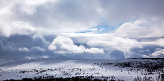 Winter landscape. With stormy weather Stock Photo