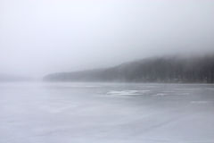 Winter landscape. Lake in winter morning Royalty Free Stock Photography
