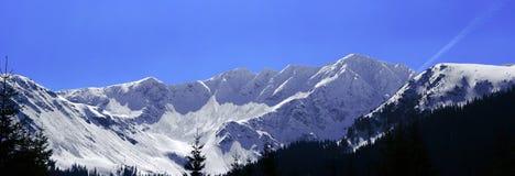 Winter landscape_2. High mountains winter panorama landscape stock image