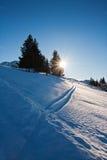 Winter landscape. Beautiful winter landscape, Rossfeld, Germany Royalty Free Stock Photo