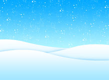 Winter landscape. Illustration of a winter landscape with snow Royalty Free Stock Images