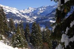 Winter landscape,. Winter landscape in the Swiss Alps, Switzerland Stock Photo