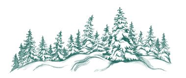 Winter landscape. With fir-trees Stock Image