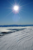 Winter landscape. Sunny carpathian landscape during the winter Stock Photography