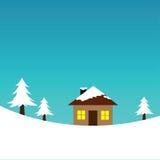 Winter Landscape. Illustration of a winter landscape Royalty Free Stock Photography