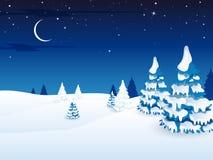 Winter Landscape. Illustration of a beautiful snowy Winter Landscape Royalty Free Stock Photo