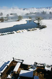 Winter landscape. Snow fall in Soth Africa. It rarely snow in South Africa Royalty Free Stock Image