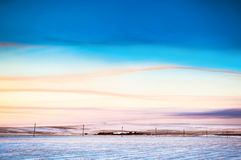 Winter landscape. With beautiful sky Royalty Free Stock Image